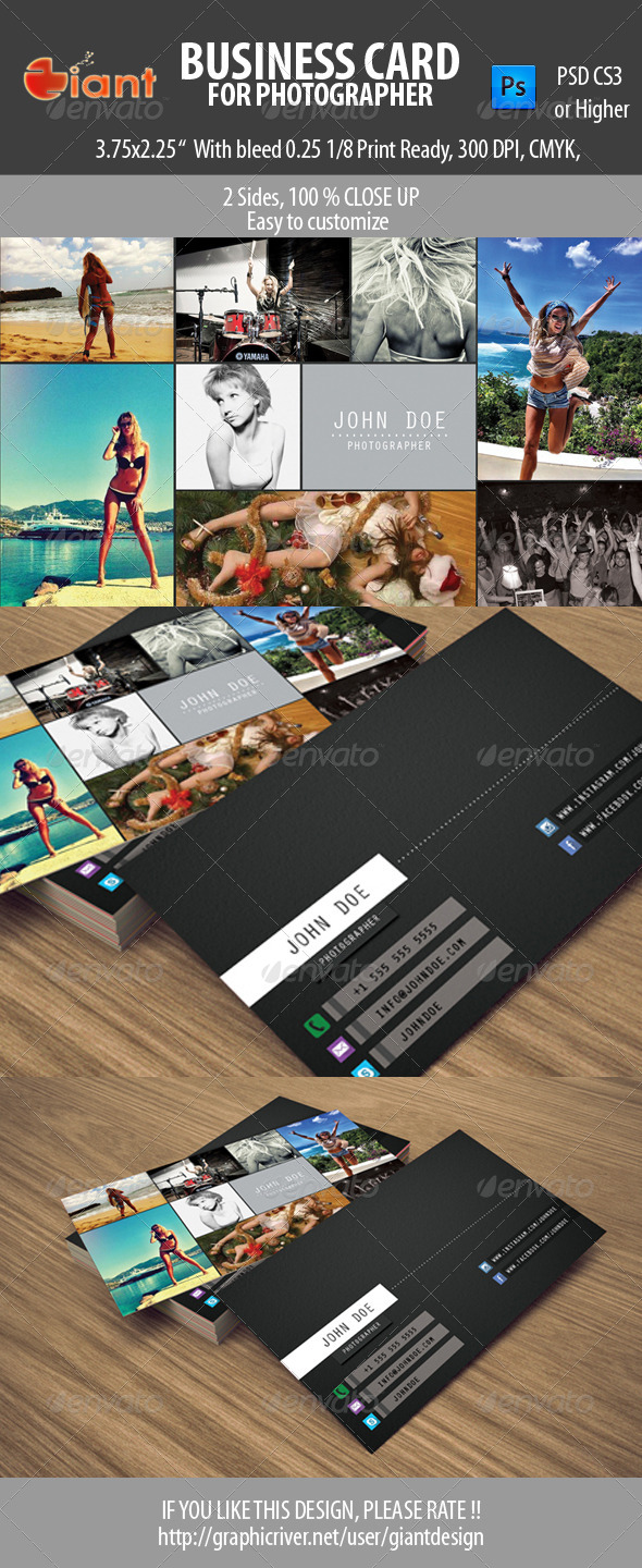 GraphicRiver Business Card For Photographer 5618967