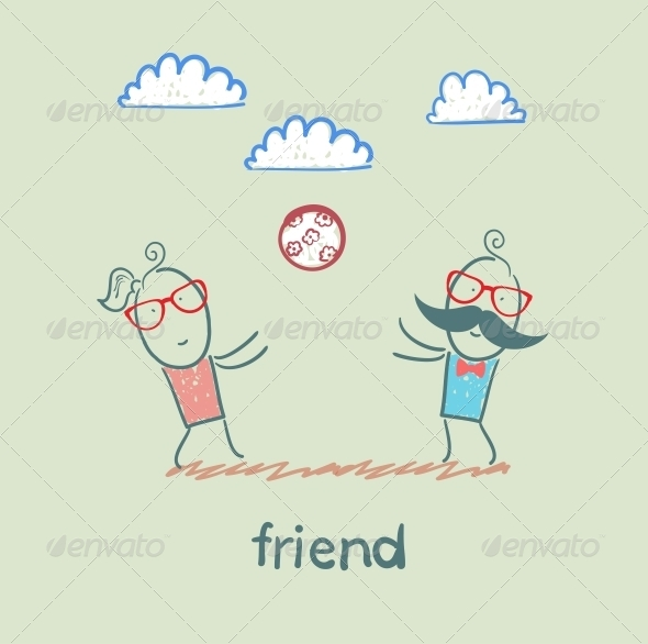 GraphicRiver Friend Throwing Ball 5618981