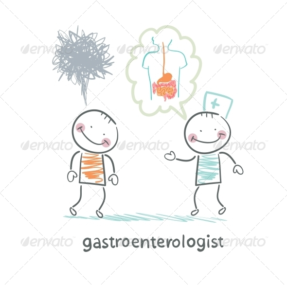 GraphicRiver Gastroenterologist Tells Patient About Disease 5618987