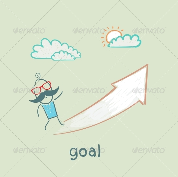 GraphicRiver Goalman Goes to the Purpose of the Arrow 5619013