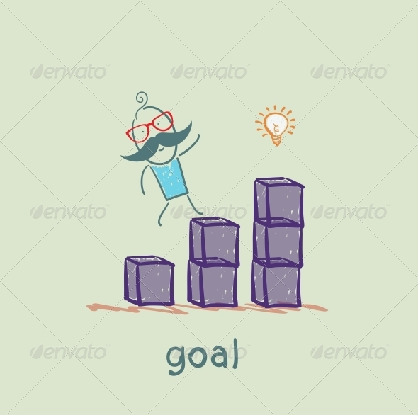 GraphicRiver Man is on Schedule up to the Goal 5619027