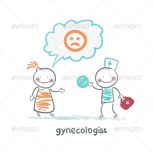 GraphicRiver Gynecologist Gives the Patient a Pill 5619062