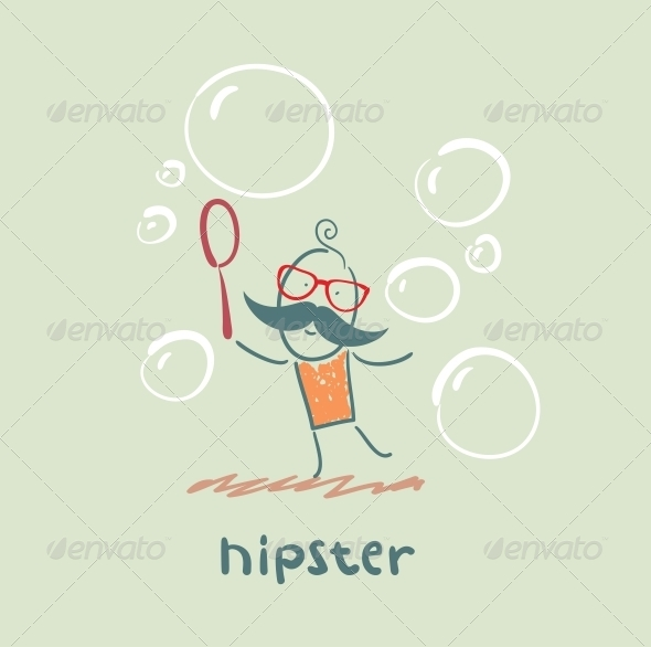 GraphicRiver Hipster with Bubbles 5619156