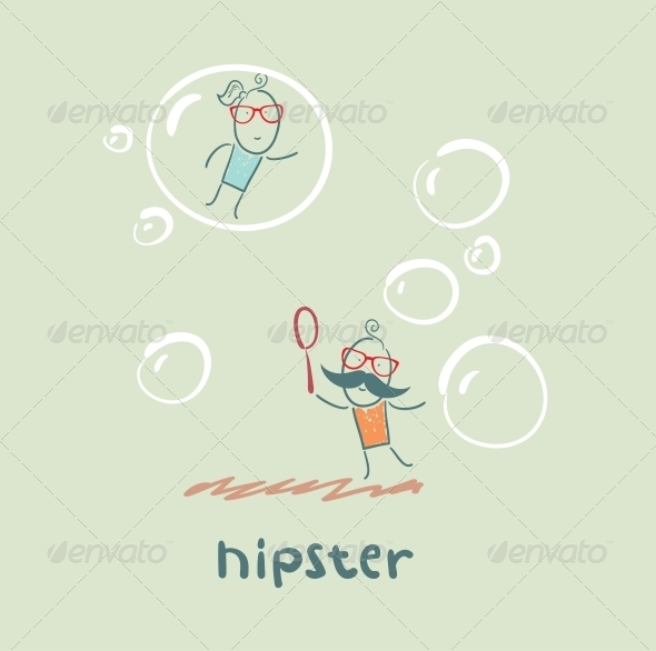 GraphicRiver Hipster and Bubbles 5619158