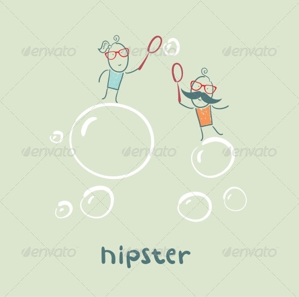 Hipster and Bubbles