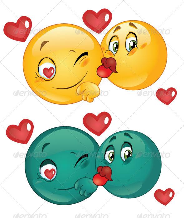 GraphicRiver Emoticon Couple Kissing 5600702