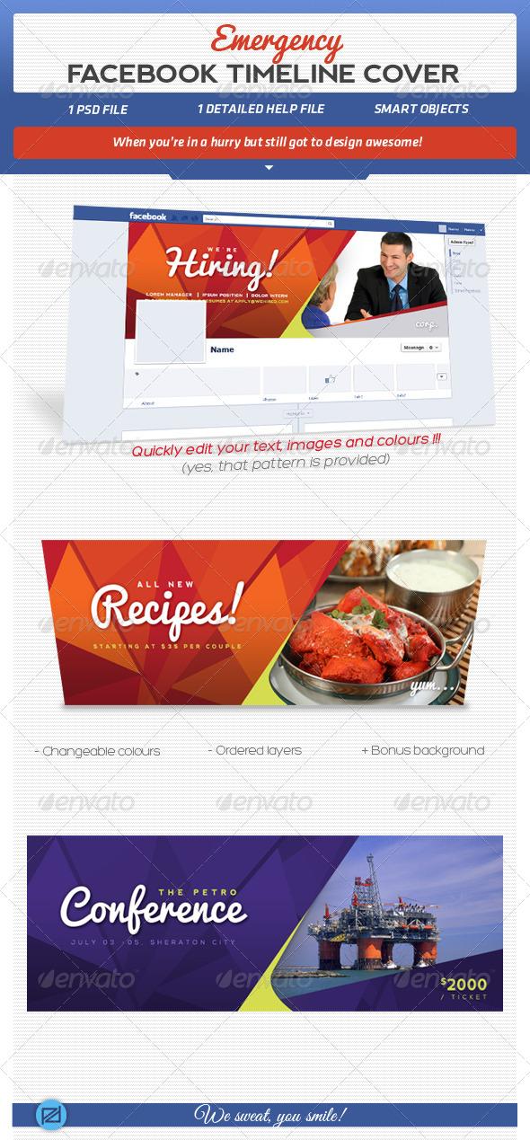 GraphicRiver Easy Edit Fb Cover 4 Emergencies 5619165