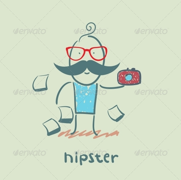 GraphicRiver Hipster with Camera 5619175