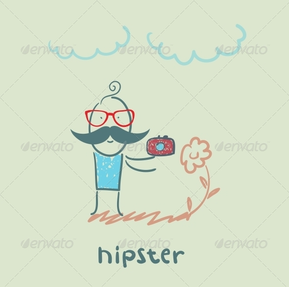 GraphicRiver Hipster with a Camera 5619180