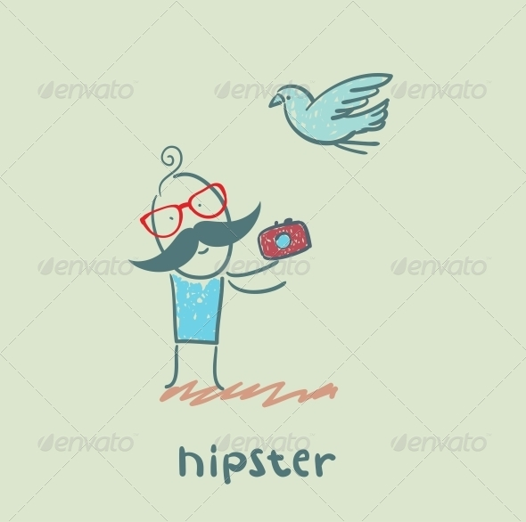 GraphicRiver Hipster with Camera 5619182