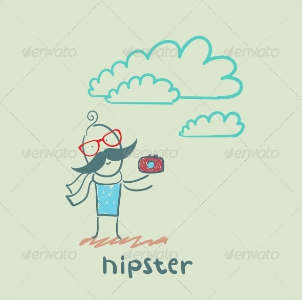 GraphicRiver Hipster with Camera 5619186