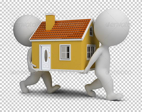GraphicRiver 3D Small People Carrying Home 5619209