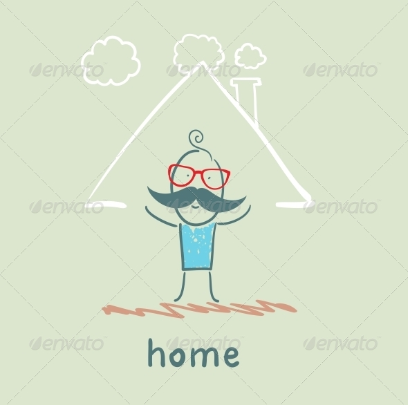 GraphicRiver Person in a House 5619224