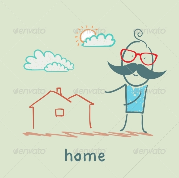 GraphicRiver Man Shows the House 5619236