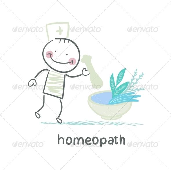 GraphicRiver Homeopath Medicine Prepared from Plants 5619237