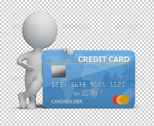 GraphicRiver 3D Small People with A Credit Card 5619251