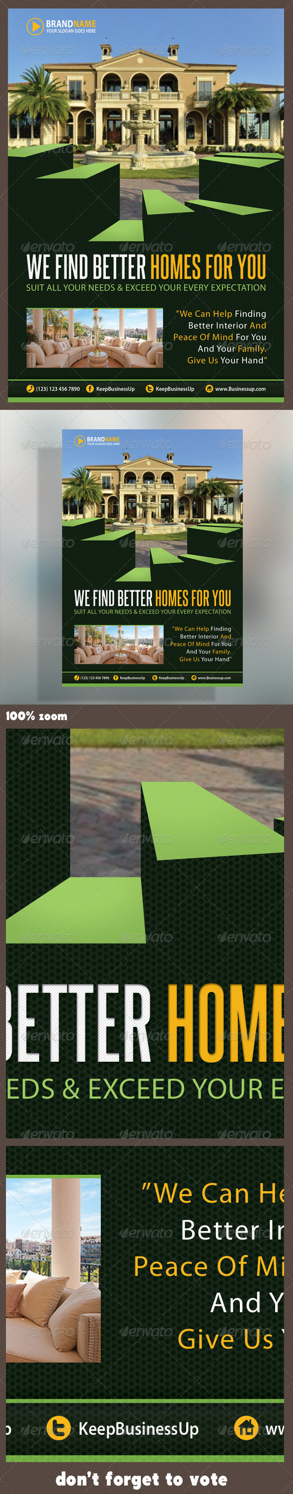 Real Estate Corporate Flyer 03 - Print Templates