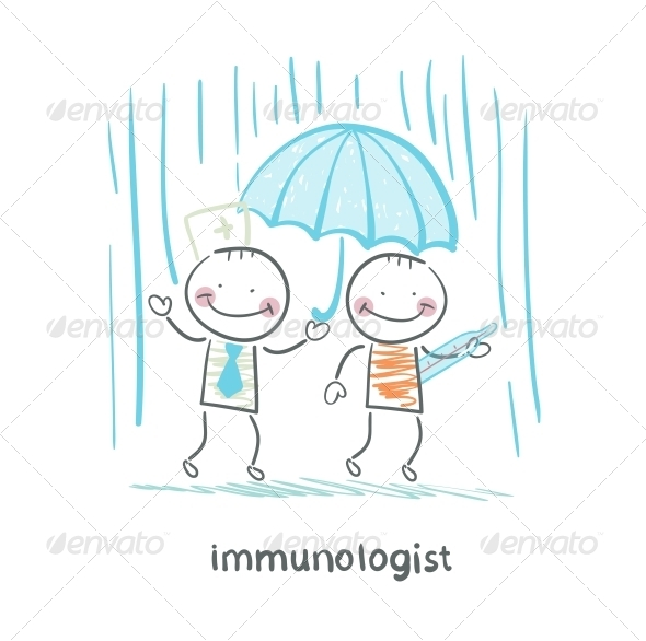 GraphicRiver Immunologist Umbrella Covers the Patient 5619482