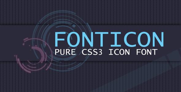 CodeCanyon Fonticon Pure Css3 Icon Font 5619543