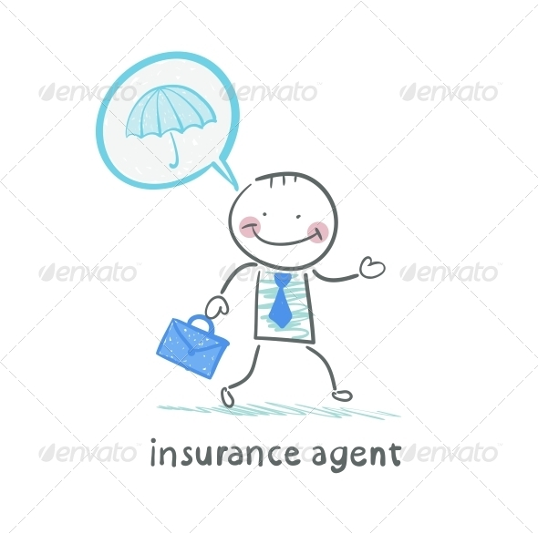 GraphicRiver Insurance Agent Insurance Agent is Thinking About 5619550