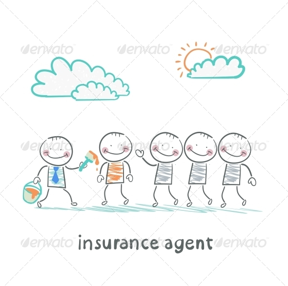GraphicRiver Insurance Agent Repaint in a Different Color People 5619558