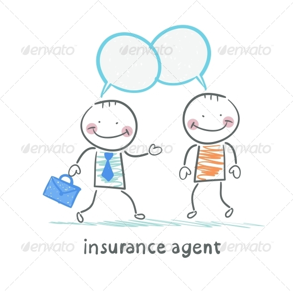 GraphicRiver Insurance Agent Tells About Insurance 5619564