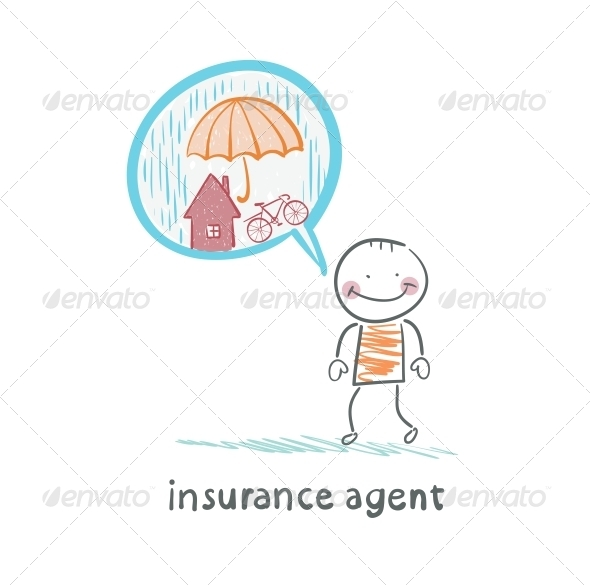 GraphicRiver Insurance Agent Insurance Agent is Thinking About 5619566