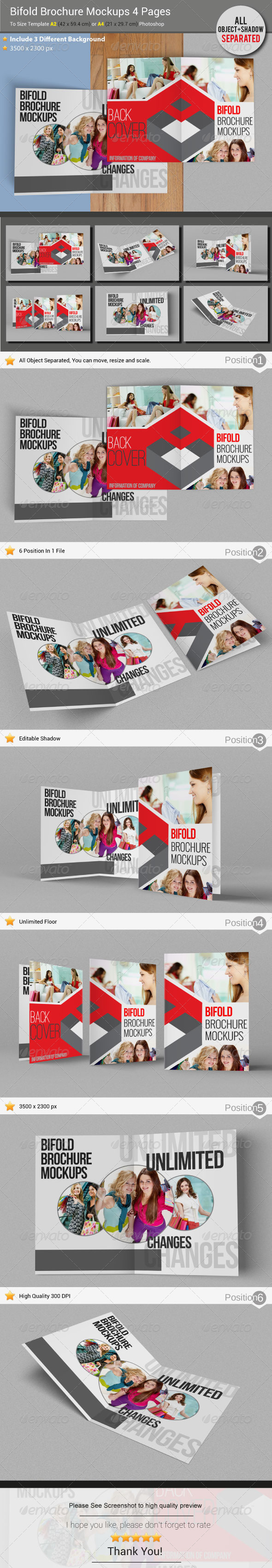 GraphicRiver Brochure Mockups 4 Pages 5619637