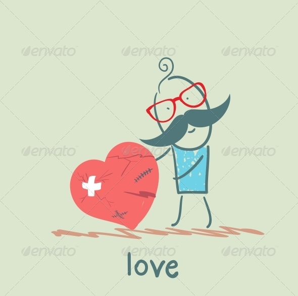 GraphicRiver A Man Stands with a Broken Heart 5619708