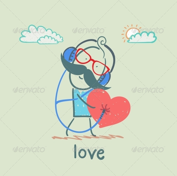 GraphicRiver G0uy Listening to the Melody of the Heart 5619737