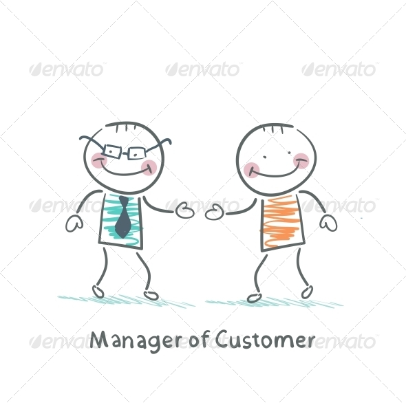 GraphicRiver Manager Customer Greets with the Client 5619834