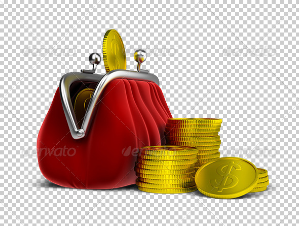 GraphicRiver Purse and Coins 5619851