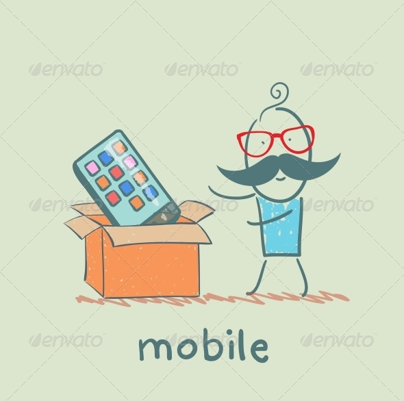GraphicRiver Man Bought a Mobile 5619860