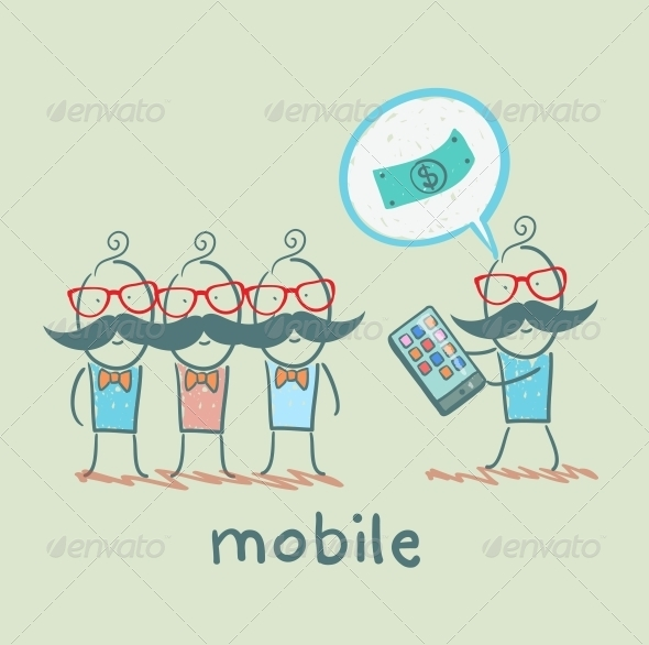GraphicRiver People Buy Mobile 5619878