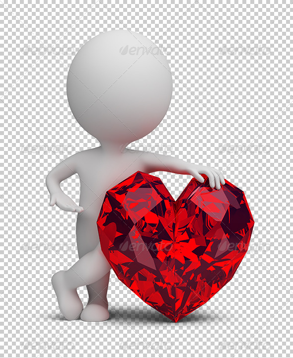 GraphicRiver 3D Small People Ruby Heart 5619918