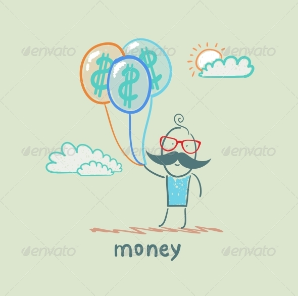 GraphicRiver Money Balloons 5619922