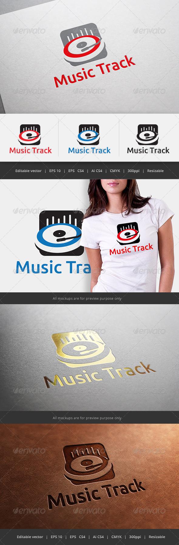 GraphicRiver Music Track Logo 5600973