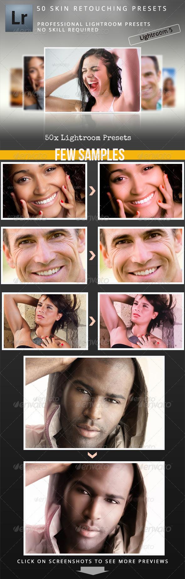 50 Skin Retouching Presets - Lightroom Presets Add-ons