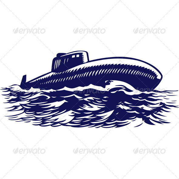 GraphicRiver Submarine Boat Retro 5600517