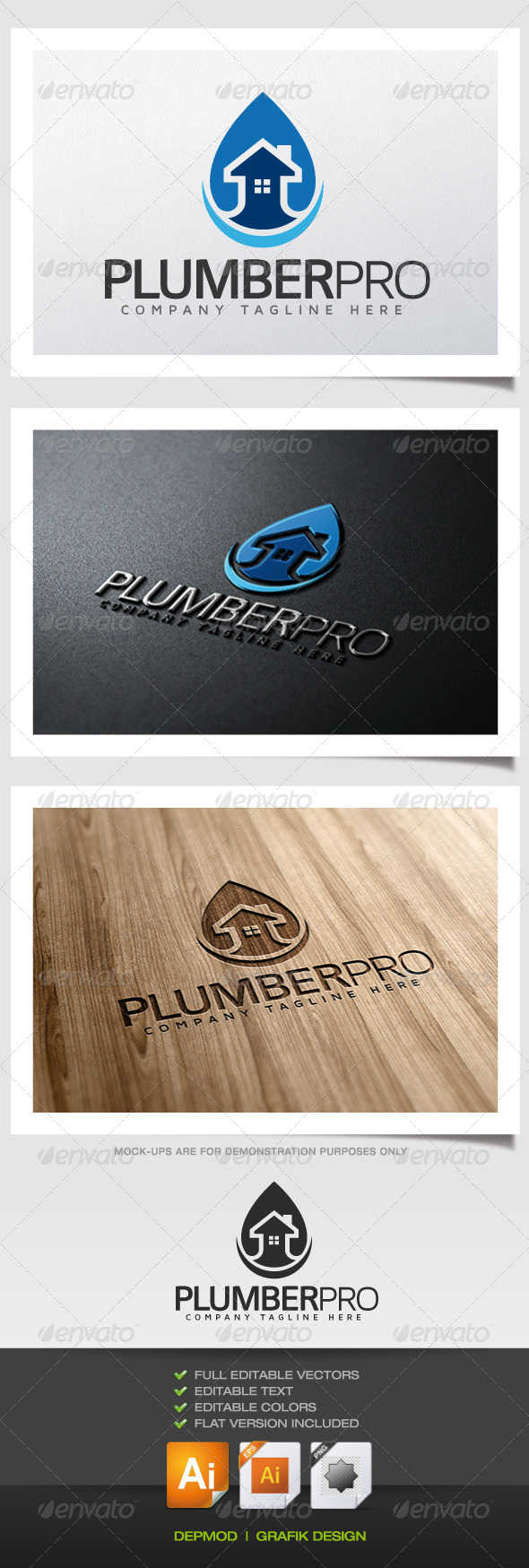 GraphicRiver Plumber Pro Logo 5620217