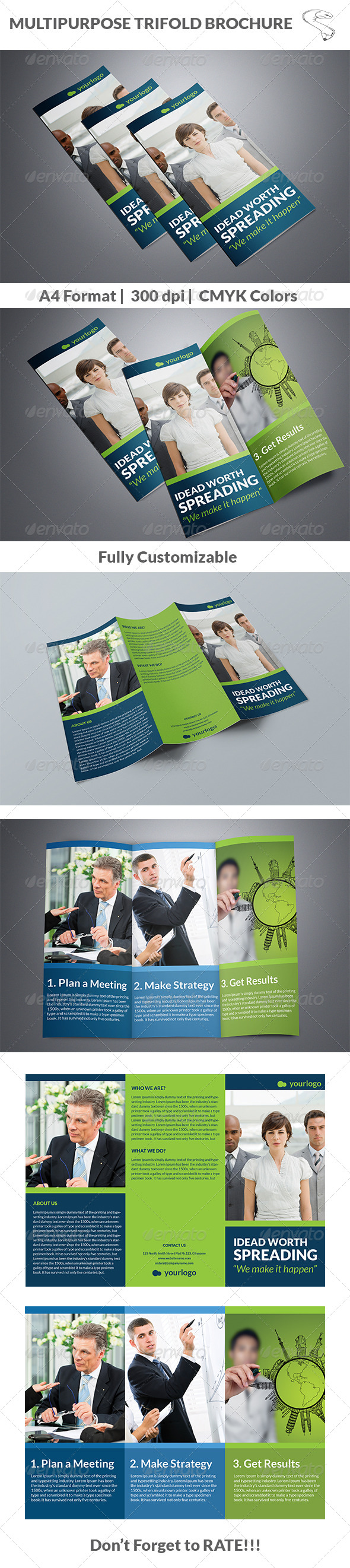 GraphicRiver Multipurpose Trifold Brochure 5620630