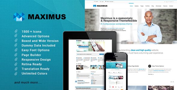 ThemeForest Maximus Responsive Multi-Purpose Theme 5598094