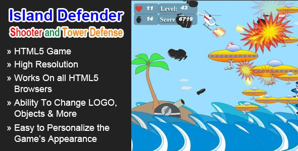 CodeCanyon Island Defender HTML5 Game 5620657