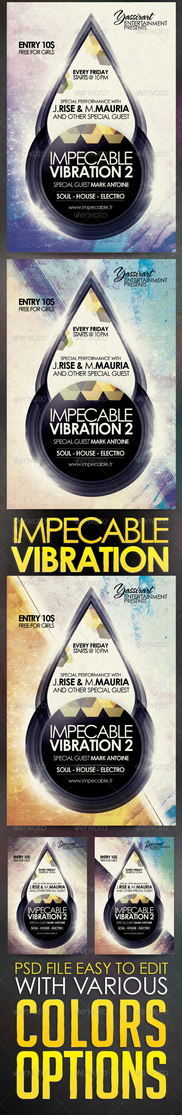 GraphicRiver Impecable Vibration 2 Flyer Template 5620755