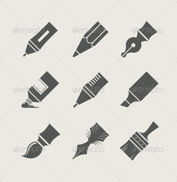 GraphicRiver Pens and Brushes for Drawing 5620775