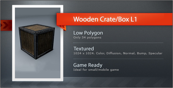 3DOcean Wooden Crate Box L1 5594772