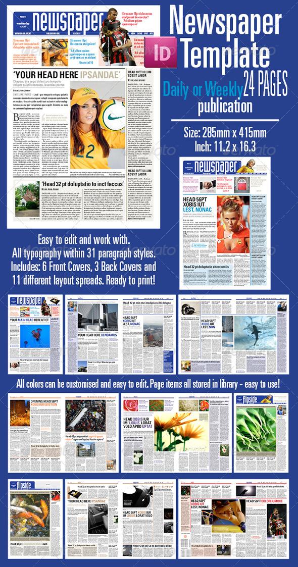 GraphicRiver Newspaper Template 5621478