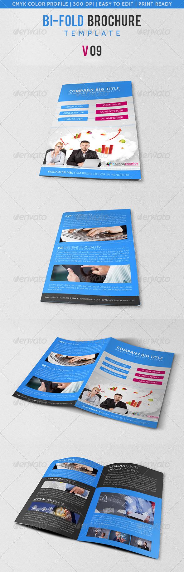 GraphicRiver Corporate Bi-Fold Brochure V-09 5621486