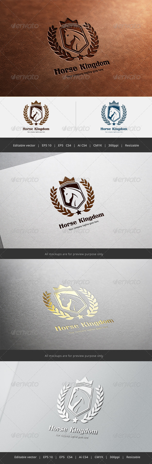 GraphicRiver Horse Kingdom Logo 5587174