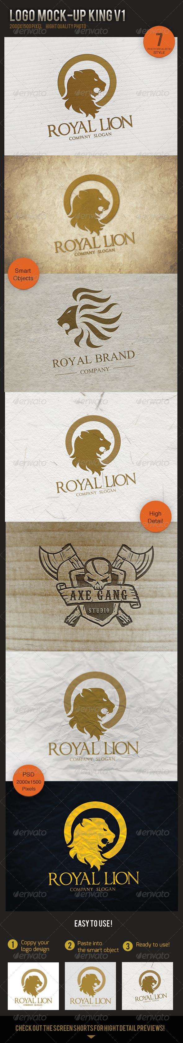 GraphicRiver Logo Mock-Up King V1 5603754